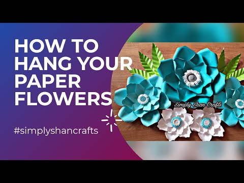 """"""" DIY""""How to put your paper flowers backdrop"""