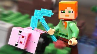 LEGO Minecraft Алекс и Свинка - НАБОР НА ОБЗОР (21123)