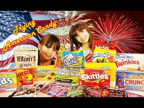 American Chocolate and Candy Taste Test - WARNING - Extreme amounts of sweets consumed