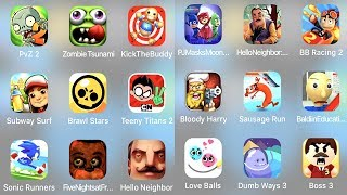 Plants vs Zombies 2 Granny Horror Game Zombie Tsunami Brawl Stars Caveman Kick The Buddy Bowmasters