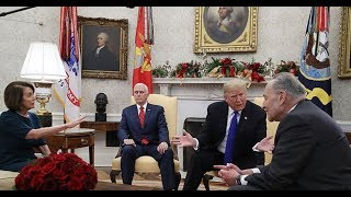 Trump Pelosi & Schumer FAIL To Keep Cool & EXPLODE in Front of Cameras In Oval Office