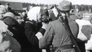 СС Каратели РОА РОНА угоняют русских женщин в Германию Nazi SS