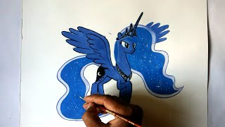 how to draw my little pony Princess Luna Alicorn pony