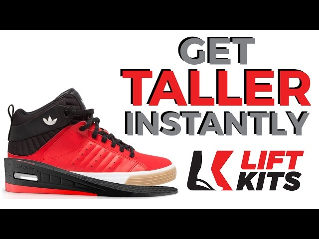 LiftKits Men/'s 2 inch Shoe Lift Inserts Black//Red Medium//6-12 M US
