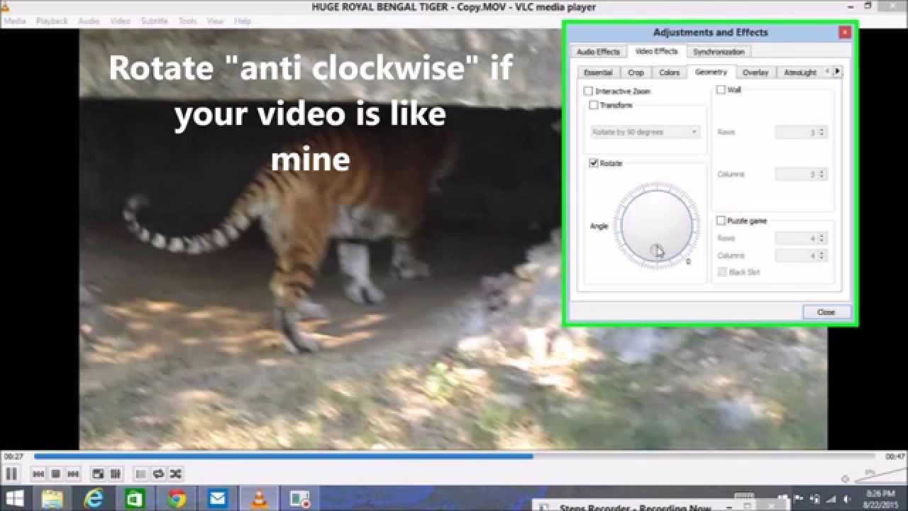 How to rotate a video in windows 10 using vlc youtube how to rotate a video in windows 10 using vlc ccuart Gallery