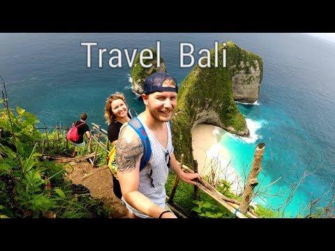 BALI TRAVEL - Ubud, Nusa Penida, Kelingking Beach (GoPro)