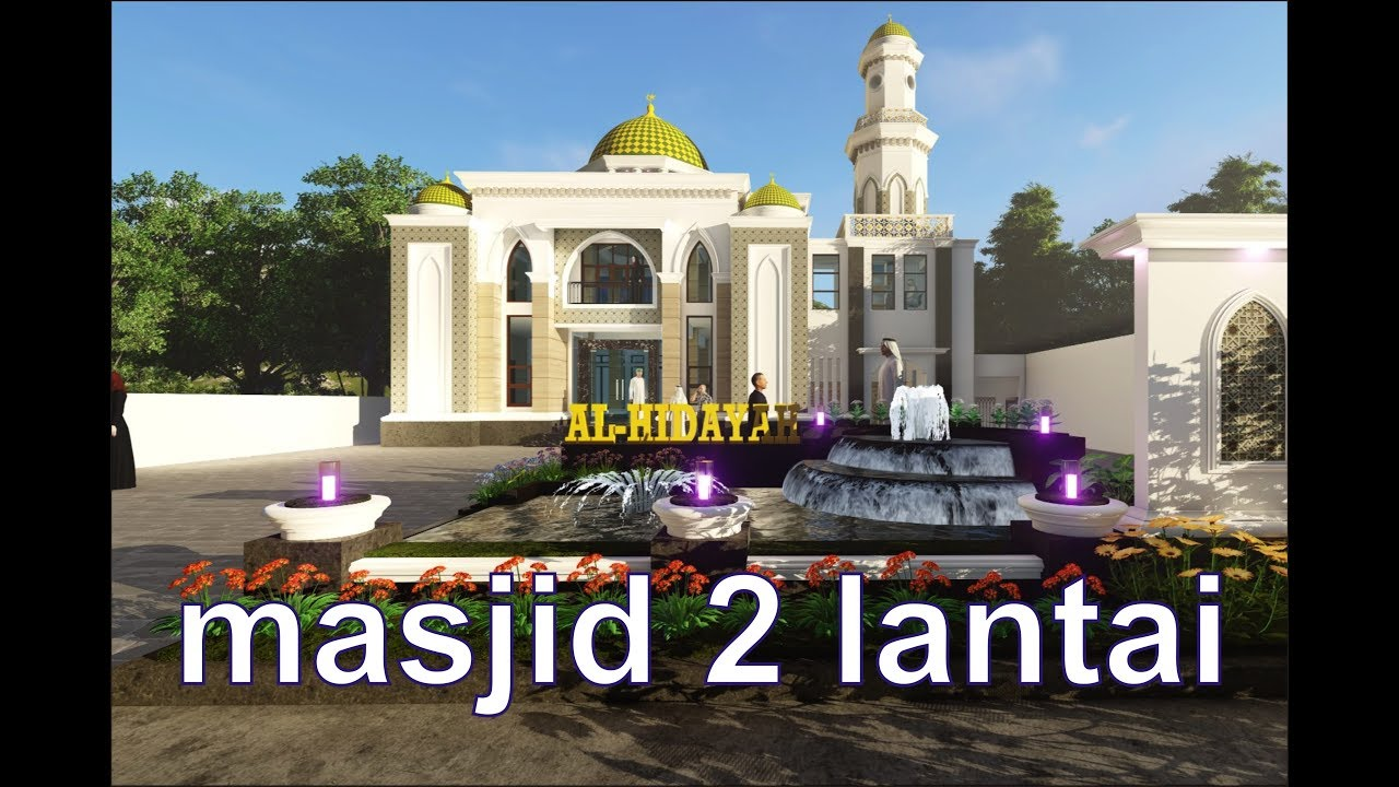 Simple 2 Storey Classic Mosque Design