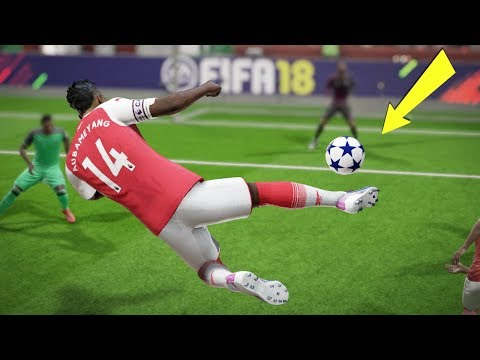 FIFA 18 TOP 10 BEST GOALS! Ft.AUBAMEYANG OVERHEAD,BACKHEEL, RABONA KICK!