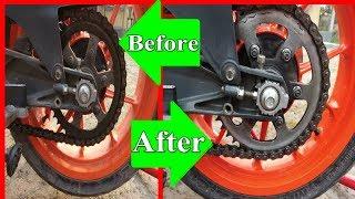 BEST WAY TO CLEAN AND LUBE MOTORCYCLE CHAIN MOTUL CHAIN LUBE + KEROSENE
