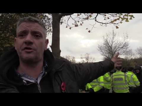 EDL march in Telford