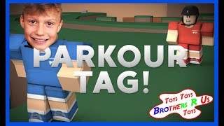 ROBLOX PARKOUR TAG Kids Gameplay   Fun Games for Kids   Brothers r Us!