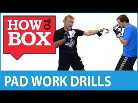 Boxing Pad Work Drills - Learn Boxing (Quick Video)