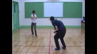 アクション116 「1対1 飛び蹴りでキメ!」