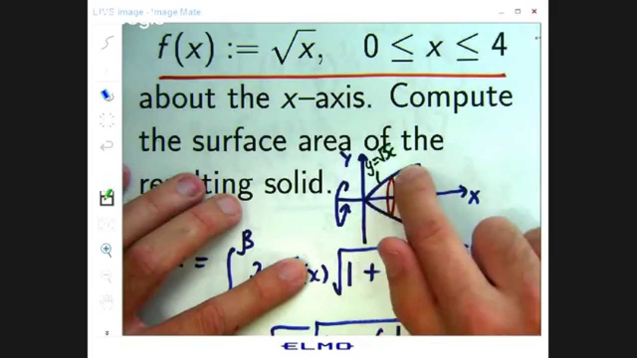 Rotate Curve: Find Surface Area Of Resulting Solid