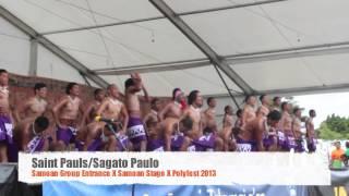 Saint Pauls Samoan Group Entrance - Polyfest2013