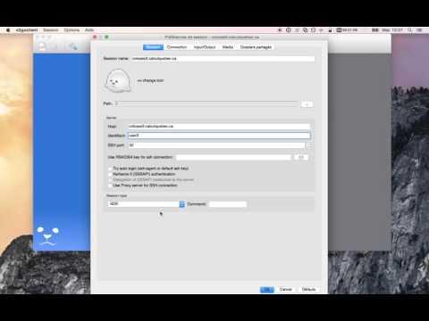 Créer une session interactive avec X2Go