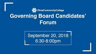 Pima Community College BOG Candidates Forum