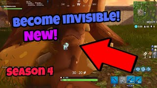 Fortnite Battle Royale Glitch (Nouveau) Devenir invisible dans la saison 4 PS4/Xbox one 2018