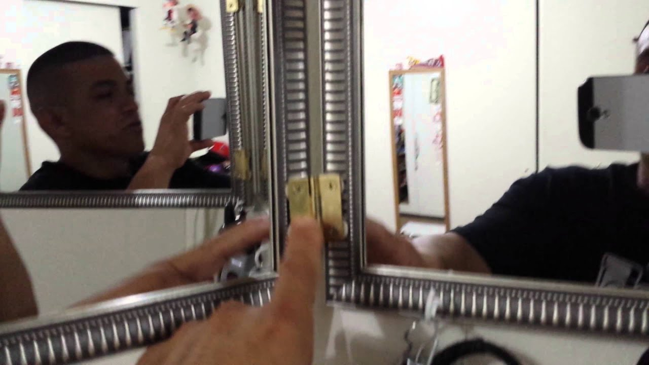 How To Make A 360 Mirror To Cut Your Own Hair Youtube
