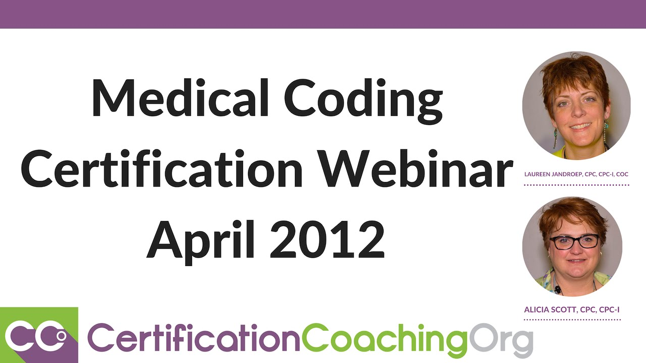 certification coding medical webinar