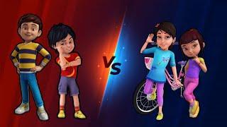 Rudra & Shiva vs Maira & Reva - epic tornado tag team match