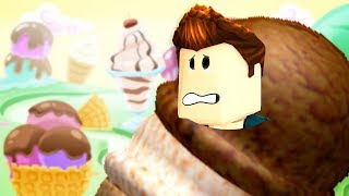 I'VE BEEN TURNED INTO ICECREAM IN ROBLOX! ESCAPE THE EVIL ICECREAM PARLOR!