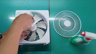 2Wで動く扇風機の掃除方法