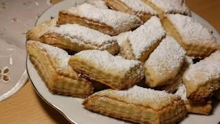 Çox asand və dadlı, Napoleon peçenyaları.(çok lezzetli, ağızda eriyen kurabiyeler).