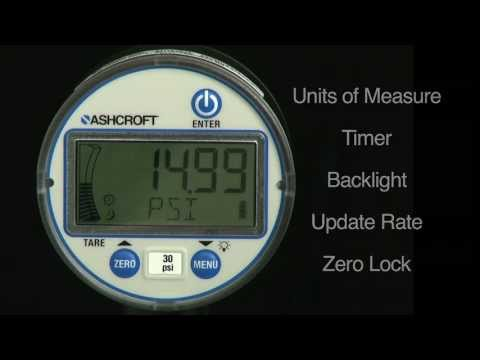 Ashcroft DG25 Digital Gauge Basic Features Part Two Of Two