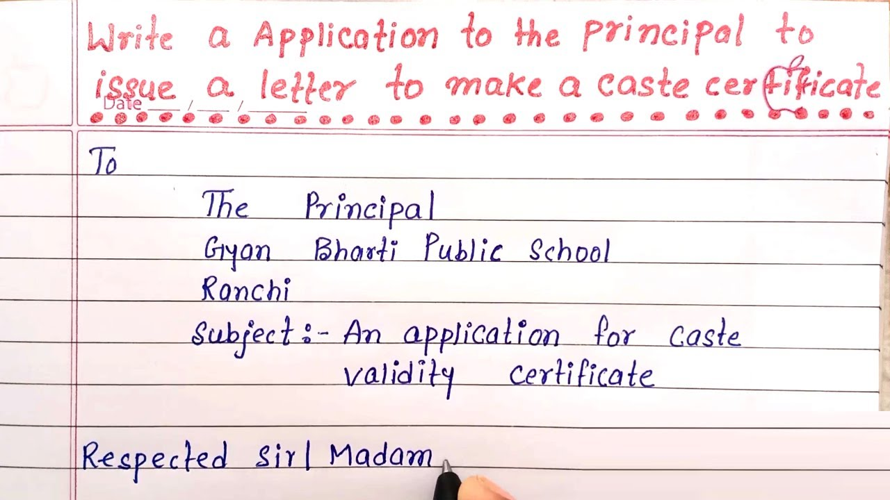 application for admission in school  write application for