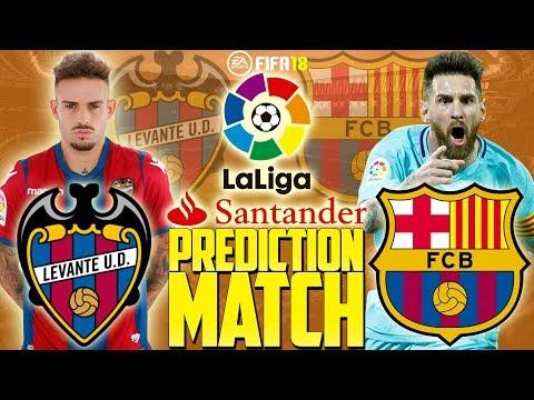 Prediction Match | Levante vs Barcelona | La Liga 2017/18 | FIFA 18
