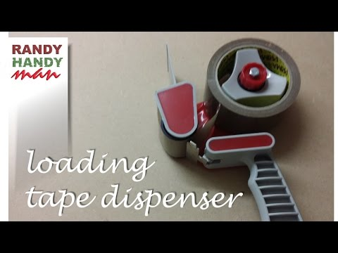 Packing tape dispenser. How to load and use packing tape dispenser video