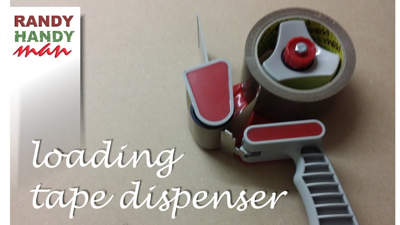packing tape dispenser how to load and use packing tape dispenser