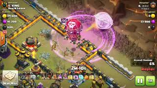 Legendary  Miner Attack In War   3 Star Attack   Town Hall 12 Miner Attack  