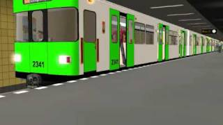 U-Bahn Berlin-My first train repaint and sound change-The BVB F90 in a new Green Livery