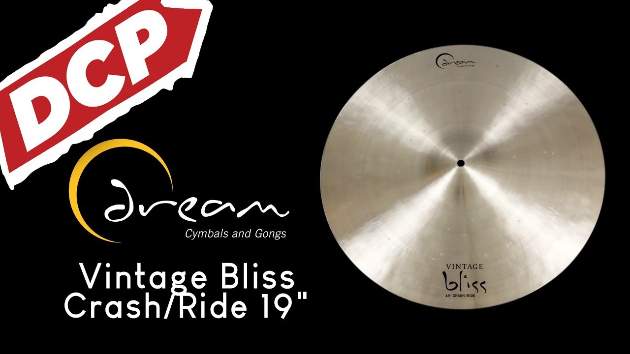 "New Dream Vintage Bliss 19/"" Crash Ride Cymbal VBCRRI19 Audio Video"