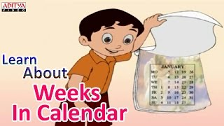Learn About Weeks In Calendar - Pre And Play School English Rhymes