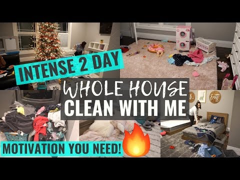 *INTENSE* 2 Day COMPLETE DISASTER WHOLE HOUSE CLEAN WITH ME 2019   EXTREME CLEANING MOTIVATION