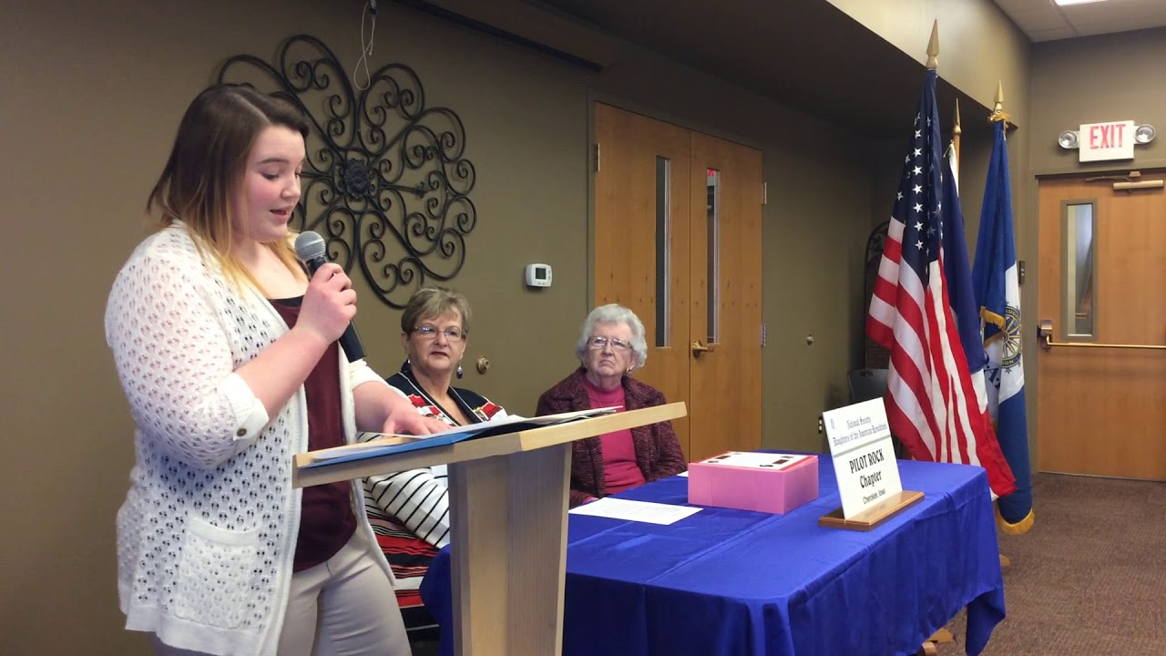 Megan Rae Loutsch shares her winning essage for the NSDAR