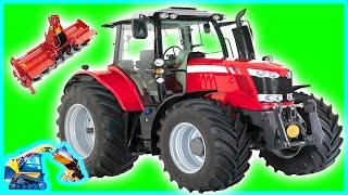 Tractors For Kids | Rototiller On The Farm