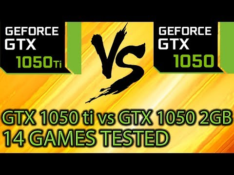 GTX 1050 ti vs GTX 1050 2GB on 14 Games - Side By Side Comparison