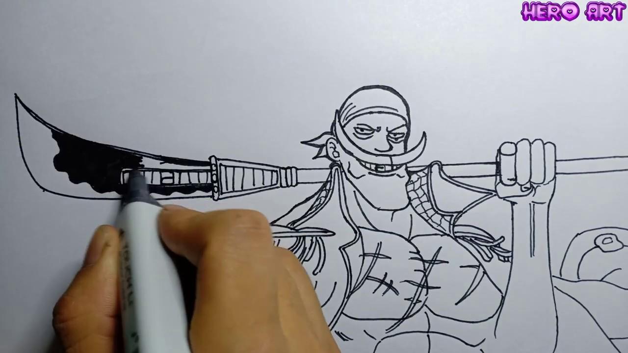 Cách Vẽ Râu Trắng Sáng Tạo Từ Chữ Viết-DRAWING ONE PIECE