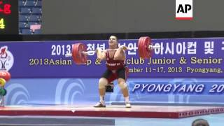 South Korean flag raised as athletes win medals in weightlifting championship
