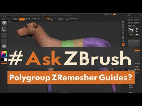 """#AskZBrush: """"Is There A Way To Use Polygroups To Generate ZRemesher Guides?"""""""