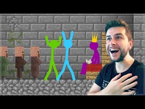 REACTING TO AMAZING ANIMATION Vs MINECRAFT! STICKMAN vs VILLAGERS! Minecraft Animations!