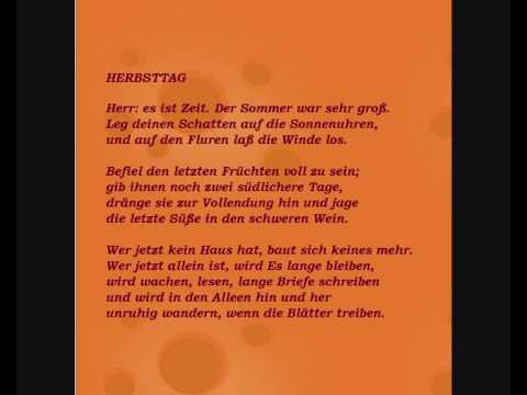 Rainer maria rilke gedicht 39 herbsttag 39 ins - Interaktive weihnachtskarte ...