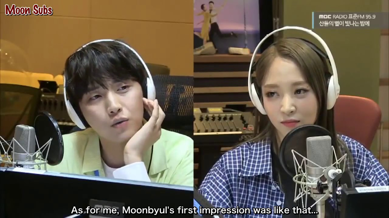[ENG SUB] Moonbyul & B1A4 Sandeul's first impression of each other.