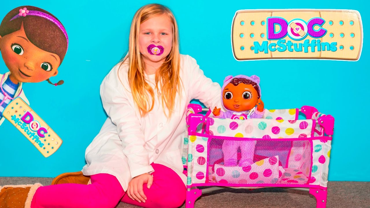 The Assistant Unboxes Doc Mcstuffins Baby Cece Toys Youtube