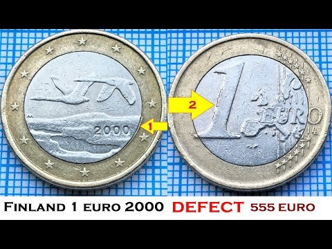 Finland 1 Euro 2000  Defect  R  IN DETAILS