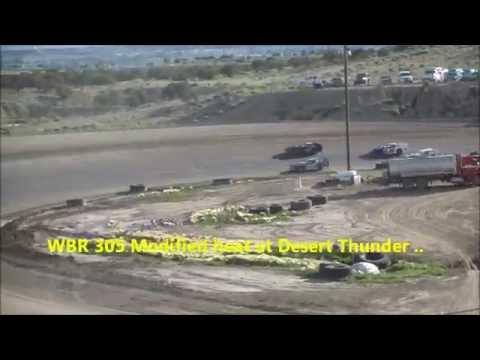 WBR 305 Modified heat at Desert Thunder Raceway.. Robert Conner #50 wins it